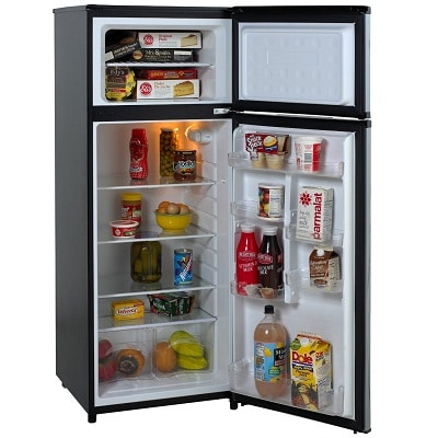 Avanti RA7316PST 2-Door Apartment Size Refrigerator, Black with ...