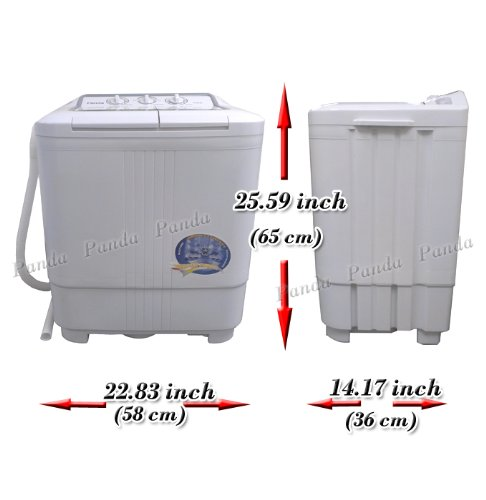 Panda Small Compact Portable Washing Machine 79lbs Capacity With Spin Dryer  Appliances Finder